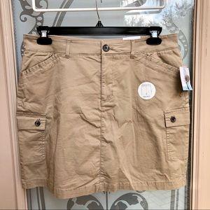 ✳️ 3/$25 Croft & Barrow Khaki Cargo Skort Skirt 12